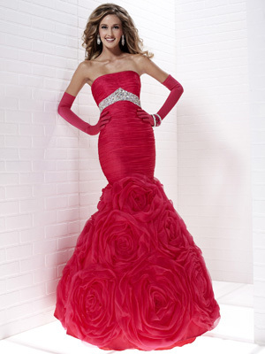 vestido sereia rosas