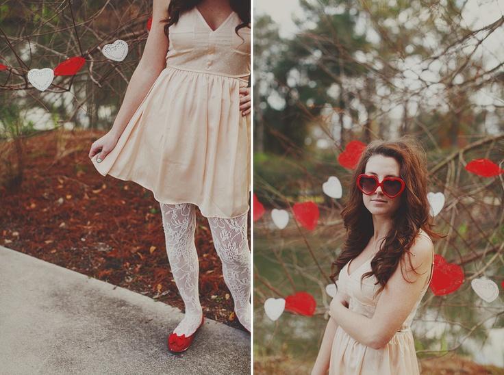 óculos coração vermelho