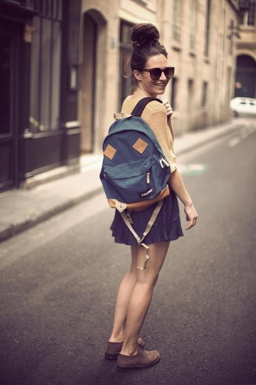 mochila azul