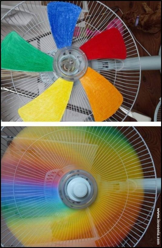 ventilador colorido 5 hastes