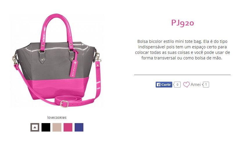 bolsa zcinza com rosa