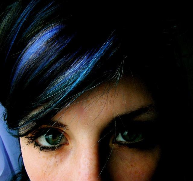 mecha franja azul