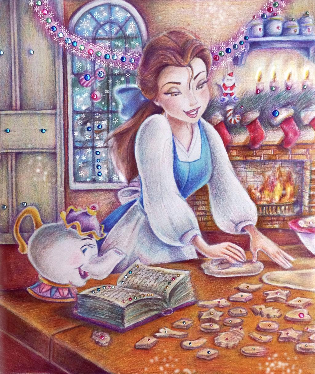belle__christmas_cookie__by_alena_koshkar-d86pweg