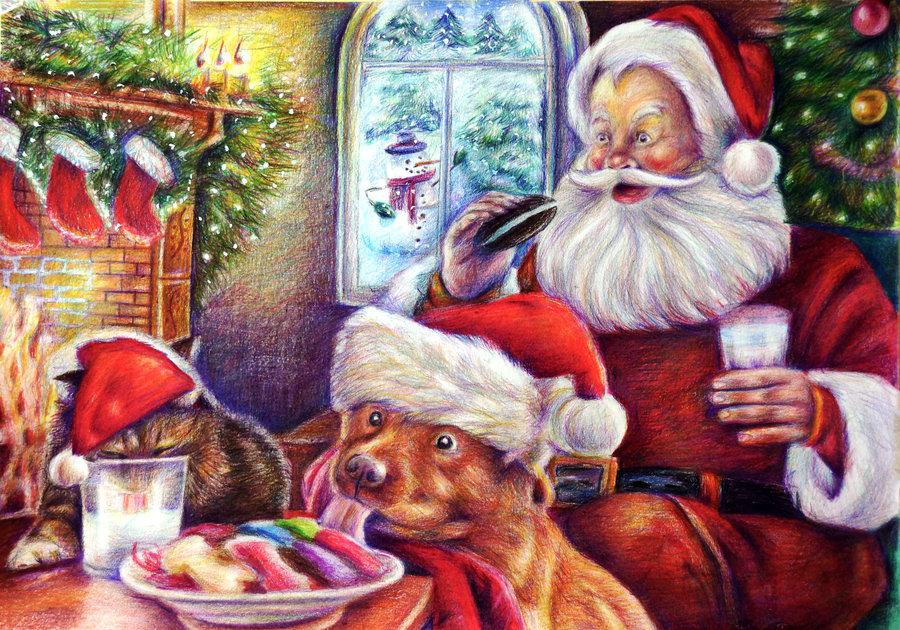 one_christmas_night_by_alena_koshkar-d6xjmb1