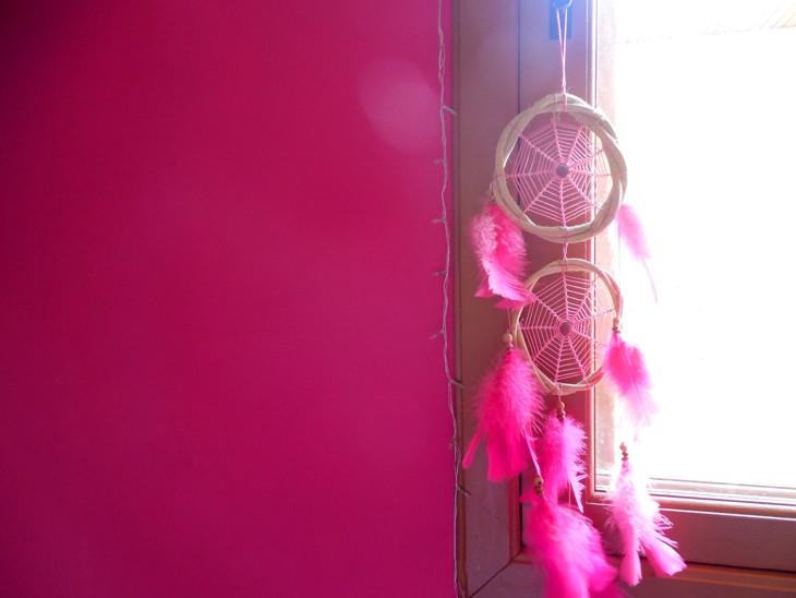 filtro de sonhos rosa